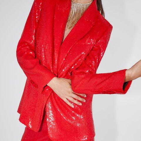 venta caliente más nuevo rendimiento confiable ventas especiales El traje rojo de lentejuelas de Zara que ya deberías tener