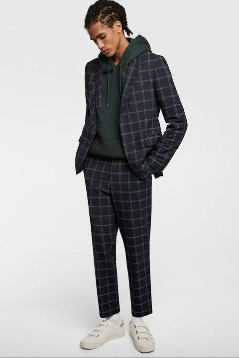traje cuadros hombre