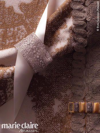 Brown, Textile, Pattern, Beige, Tan, Embellishment, Silver, Natural material, Bronze, Brass,
