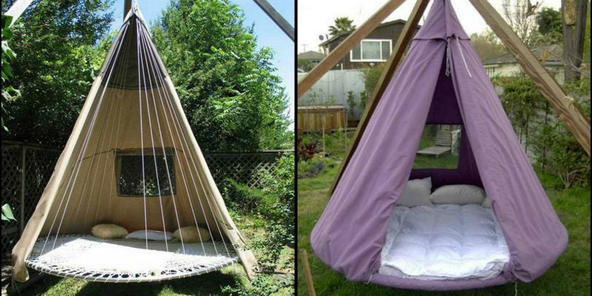 diy trampoline bed swing how to upcycle your trampoline. Black Bedroom Furniture Sets. Home Design Ideas