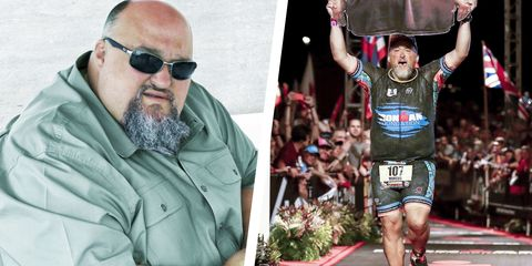 Eyewear, Endurance sports, Triathlon, Sunglasses, Beard, Facial hair, Recreation, Athlete, Glasses, Running,