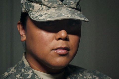 Male to female transgender soldier.