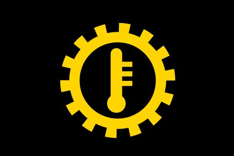 transmission temperature warning light