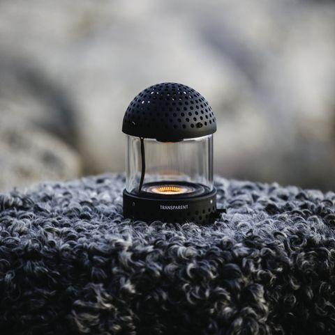 light speaker by transparent