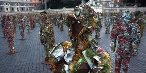 Schult's Trash People On Display In Rome