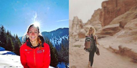 Winter, Jacket, Bag, Travel, Luggage and bags, Snow, Badlands, Escarpment, Valley, Klippe,