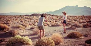 Travel photographer on holiday