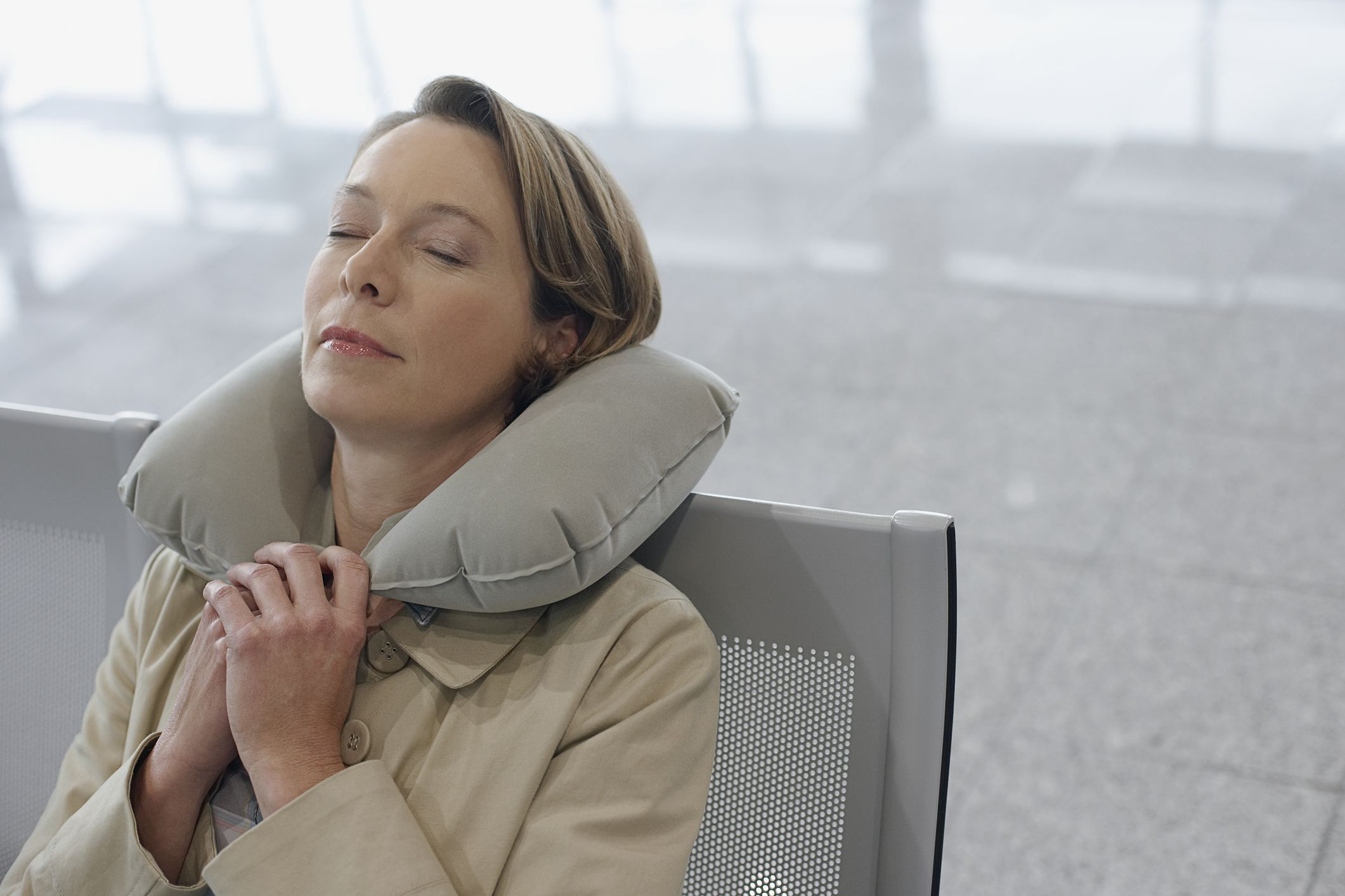 Trtl Neck Support Travel Pillow Grey