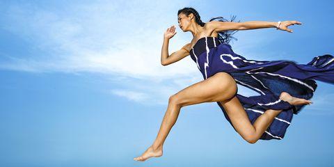 Jumping, Fun, Happy, Sky, Leg, Dancer, Vacation, Sea, Summer, Photo shoot,