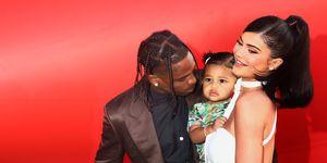 Kylie Jenner Travis Scott en Stormi Webster