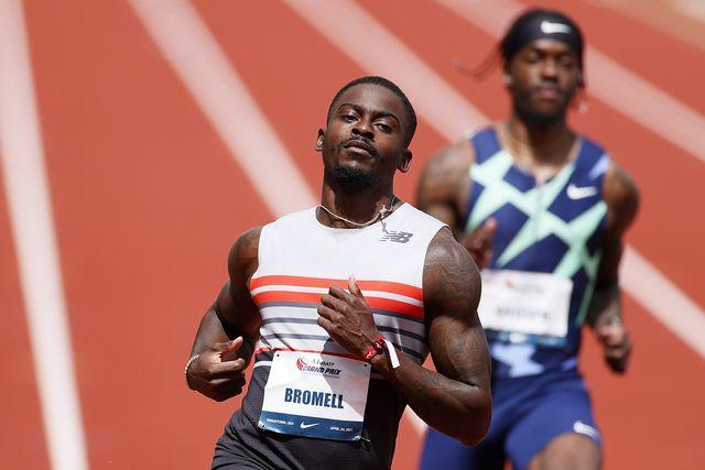 trayvon bromell corre los 100 metros lisos