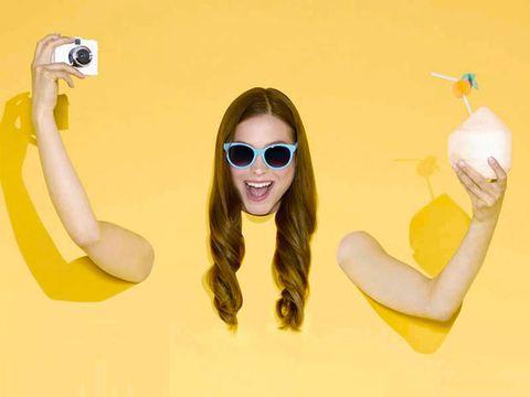 Eyewear, Yellow, Sunglasses, Smile, Glasses, Photography, Animation, Illustration, Banana, Vision care,