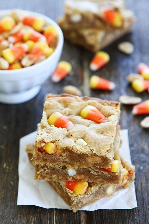 peanut butter candy corn blondies
