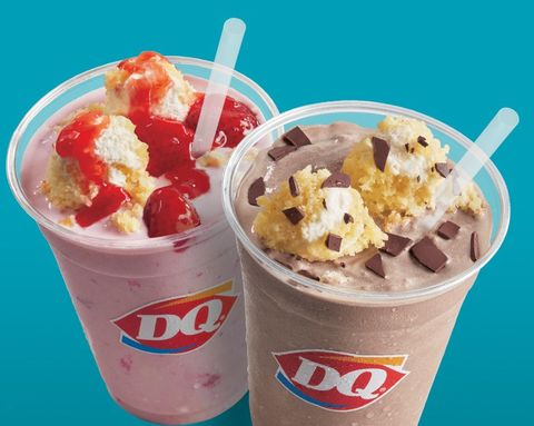 Dairy Queens New Shakes Are Blended And Topped With Pieces Of Cake