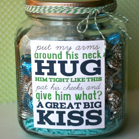 candy tags - father's day crafts