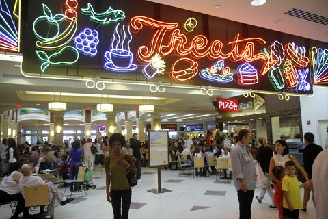 Treats entrance at the food court in Aventura Mall.