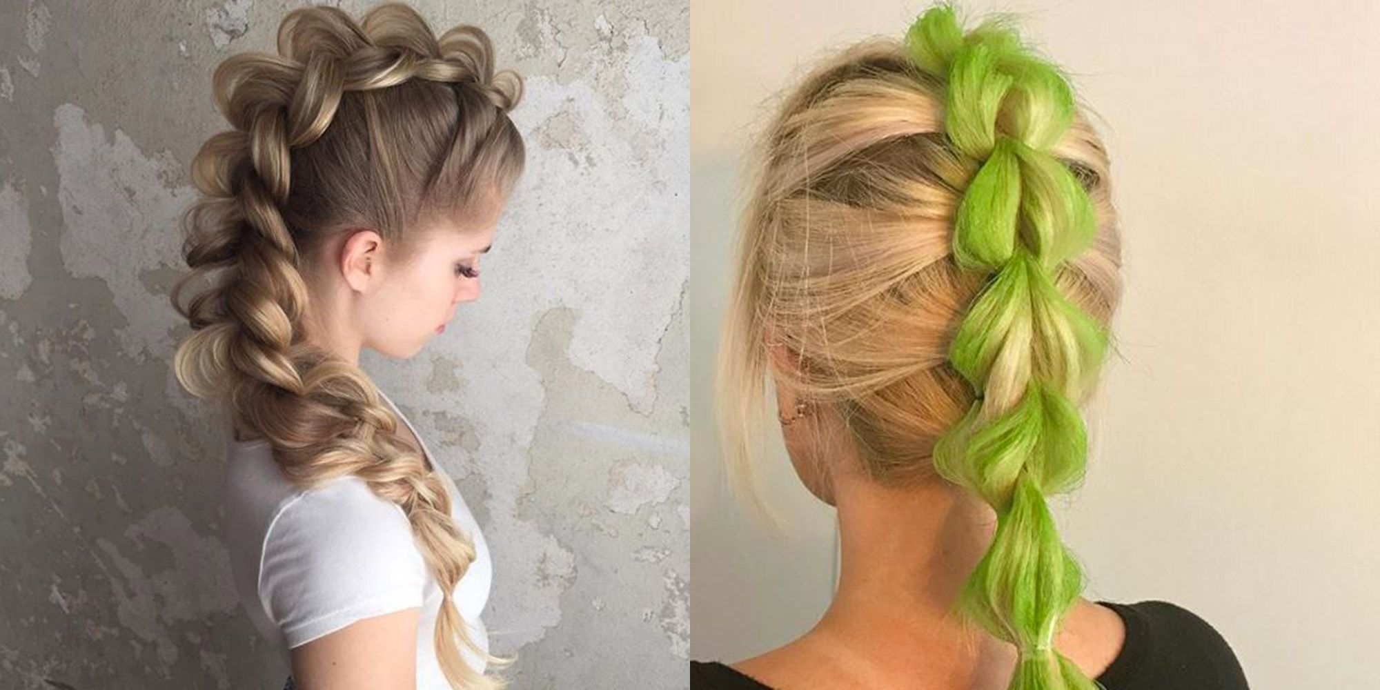 Acconciature trecce capelli lunghi foto