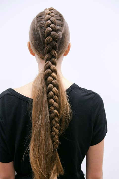 Brown, Hairstyle, Shoulder, Braid, Style, Long hair, Neck, Black, Beauty, French braid,