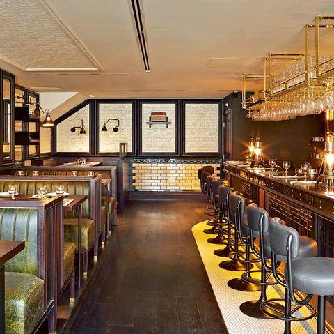 Restaurant, Building, Interior design, Room, Furniture, Bar, Table, Cafeteria, Architecture, Brunch,