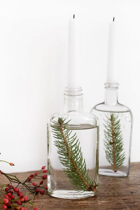 tree branch candle holders christmas centerpieces