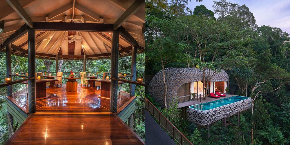 Treehouse hotels Treehouses you can actually stay in