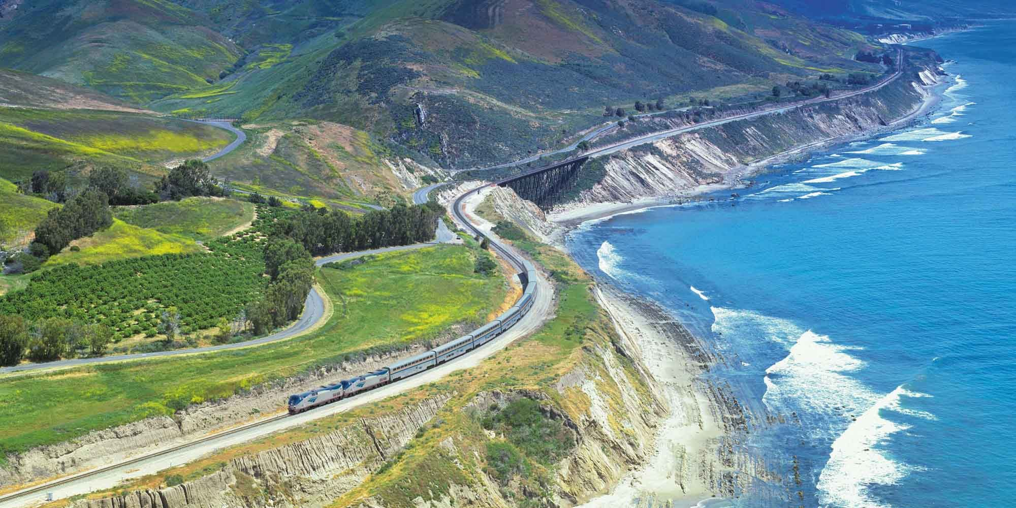 Coast Starlight treinreis Amerika