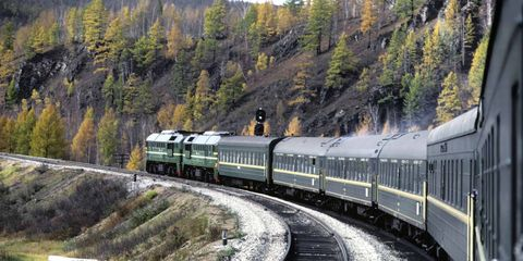 Transport, Train, Railway, Mode of transport, Track, Nature, Rolling stock, Vehicle, Railroad car, Mountain pass,