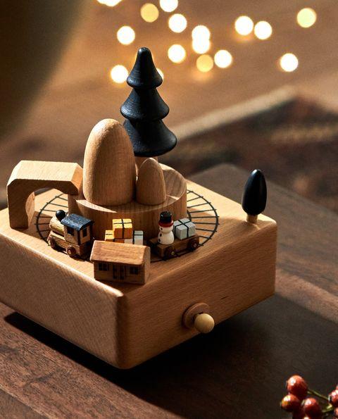 tren madera navidad