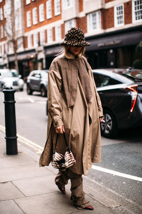 Photograph, Street fashion, Clothing, Snapshot, Outerwear, Fashion, Trench coat, Standing, Street, Brown,