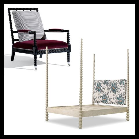 bobbin chair by ralph lauren home and bobbin four poster bed by julian chichester