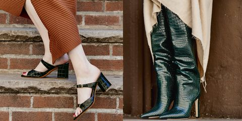 Footwear, Leg, High heels, Shoe, Teal, Turquoise, Ankle, Human leg, Boot, Knee-high boot,