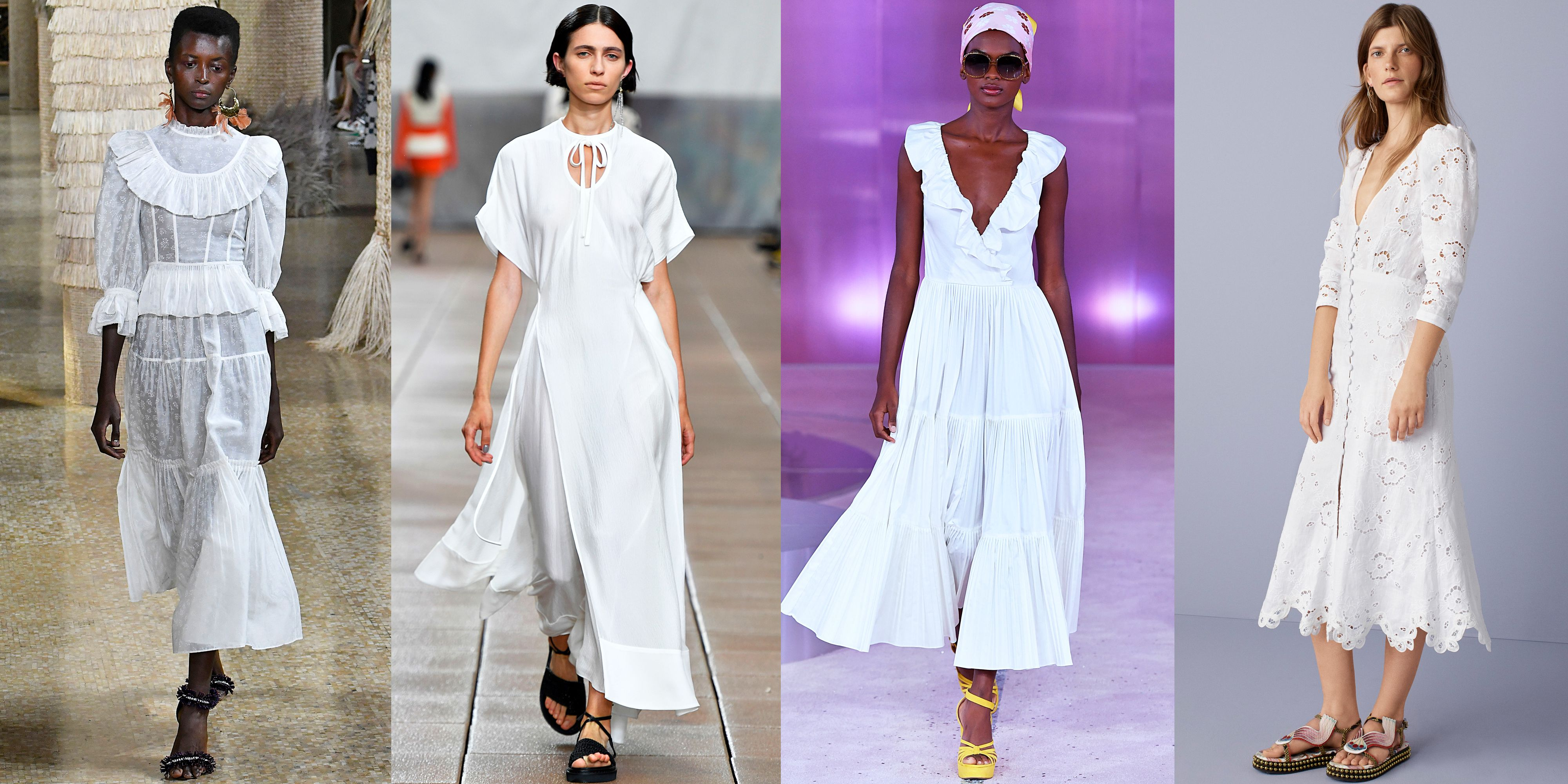 Little White Dresses As seen at Ulla Johnson, 3.1 Phillip Lim, Kate Spade, Rebecca Taylor The search for that perfect white summer dress is over, because designers sent a host of options down the catwalk for next season. Sure, they were all white, but they differed in terms of fabric (some designers used lace while others opted for sheer cotton material) and style (some LWDs were designed with sleeves, others with ruffle details).
