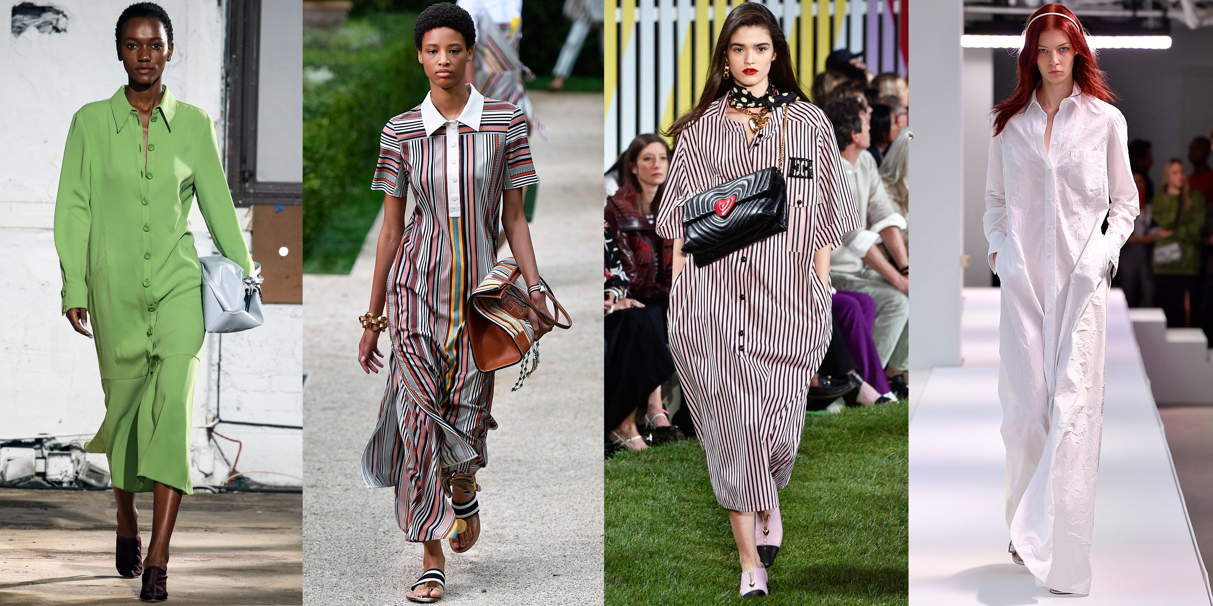 Shirtdresses As seen at Tibi, Tory Burch, Escada, Sies Marjan Designers seemed to unanimously agree that a shirtdress should be in everyone's wardrobe next season. This wearable staple came in a medley of prints and colors, from Tory Burch's striped collared dress to Sies Marjan's crisp white look.