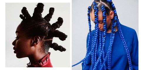 Hair, Hairstyle, Blue, Dreadlocks, Braid, Black hair, Cornrows, Electric blue, Fashion accessory, Hair accessory,