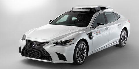 Toyota autonomous testing Lexus LS