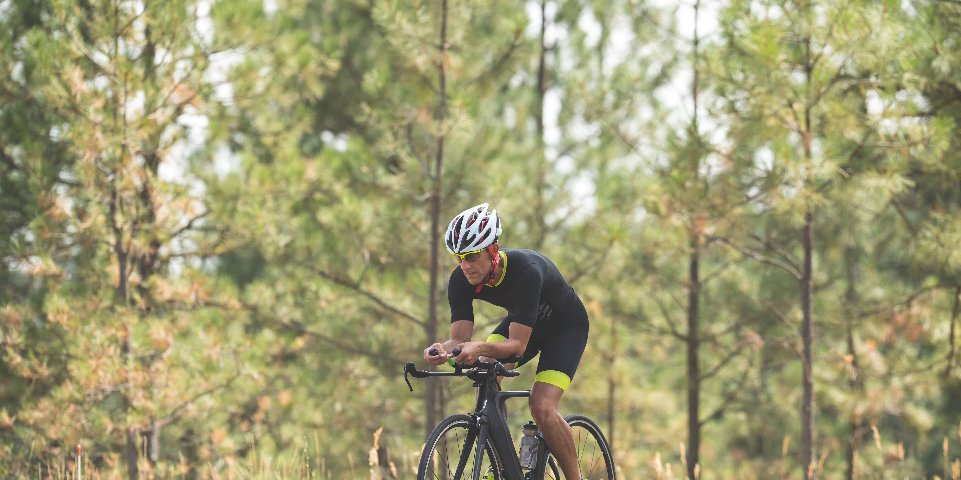 Triathlete Doing Cycling Stage