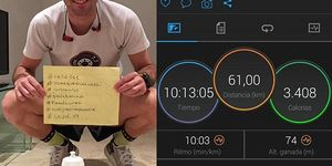 triatleta, español, 61km, interior, casa, cuarentena