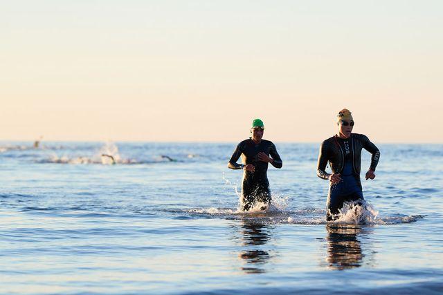 competición de triatlón en marbella