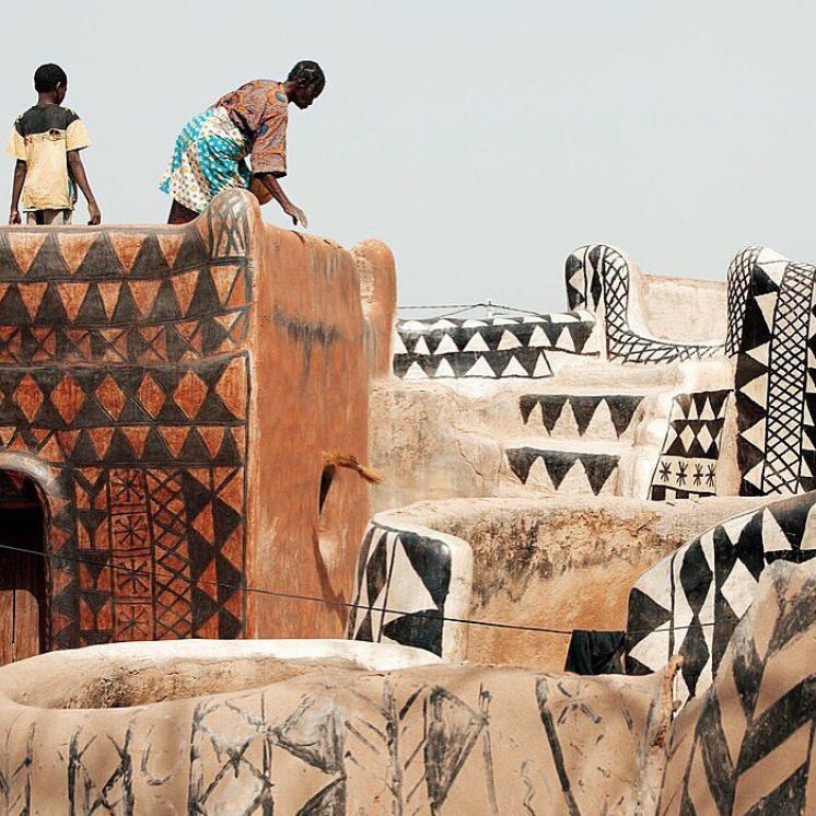 Tiébélé, el poblado de África con casas pintadas a mano - Tribu kassena,  Burkina Faso