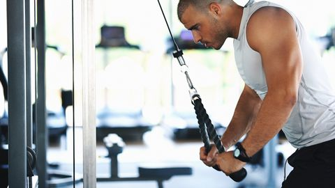 Triceps extension exercise.