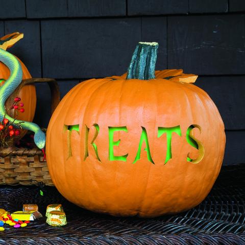 tricks and treats pumpkin