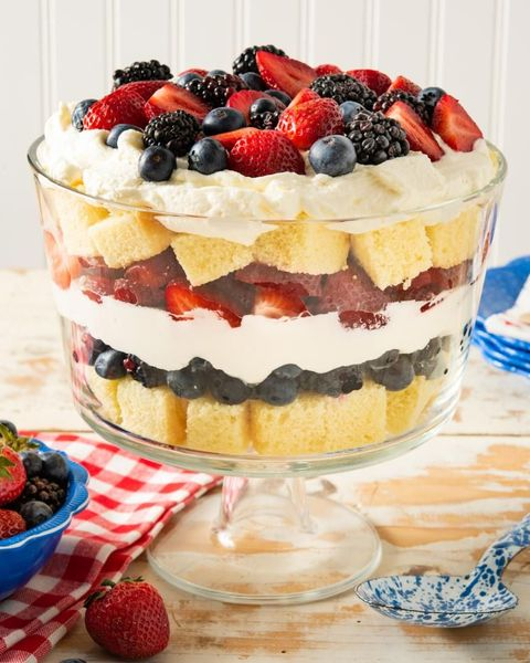 trifle recipes red white and blue trifle