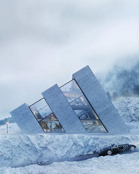 Winter, Snow, Sky, Architecture, Freezing, Ice, Arctic, Sea ice, Mountain, House,