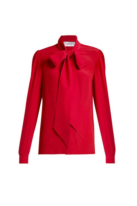 Clothing, Red, Outerwear, Sleeve, Collar, Blouse, Neck, Top, Jacket, Blazer,