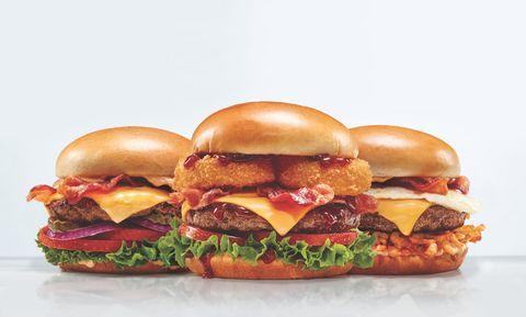 Food, Hamburger, Cheeseburger, Dish, Fast food, Junk food, Cuisine, Ingredient, Breakfast sandwich, Burger king premium burgers,