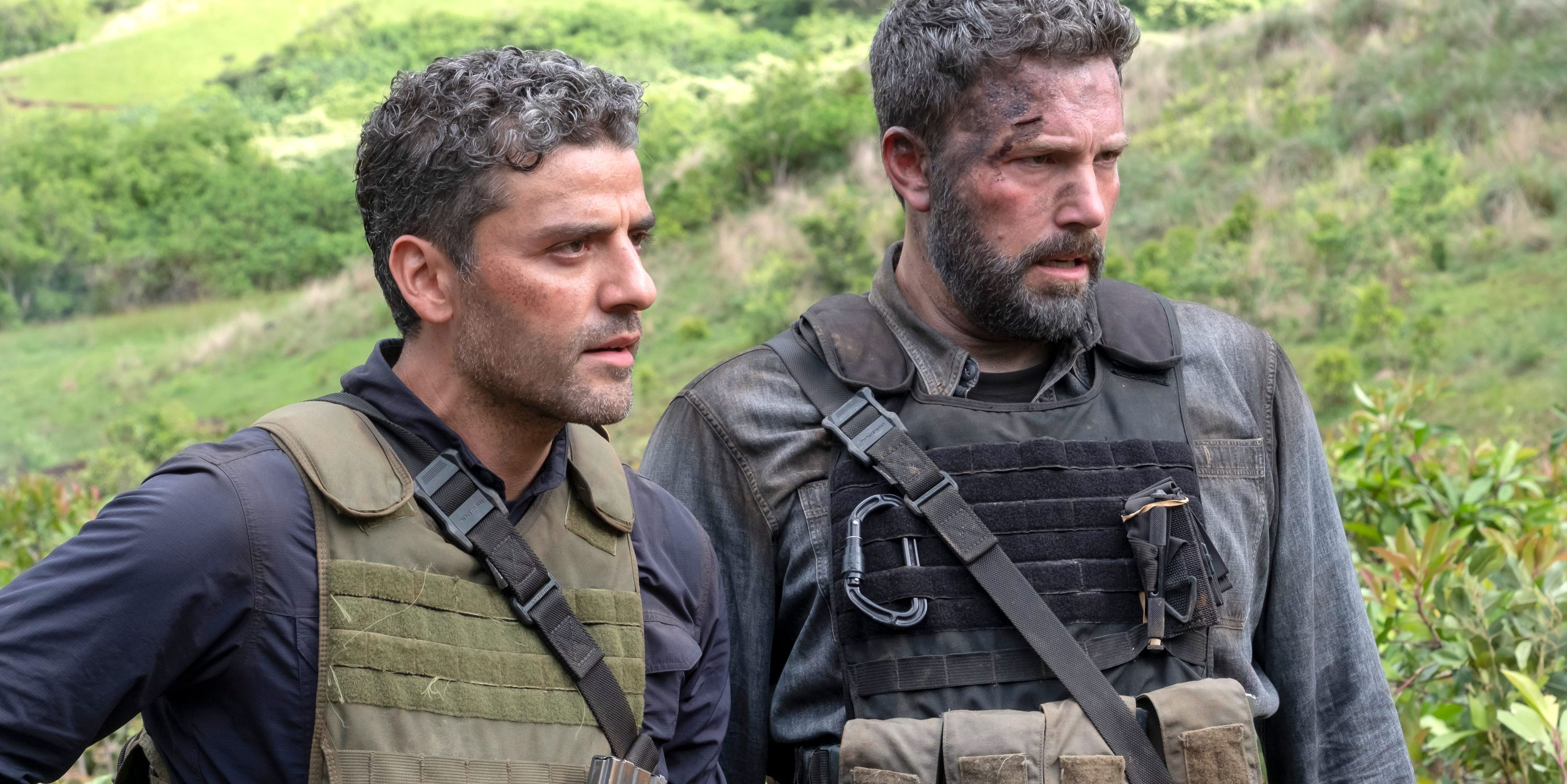 Oscar Isaac as Pope, Ben Affleck as Redfly, Triple Frontier