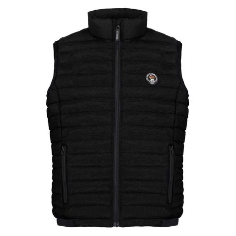 Clothing, Outerwear, Black, Jacket, Vest, Sweater vest, Sleeve, Sweater,