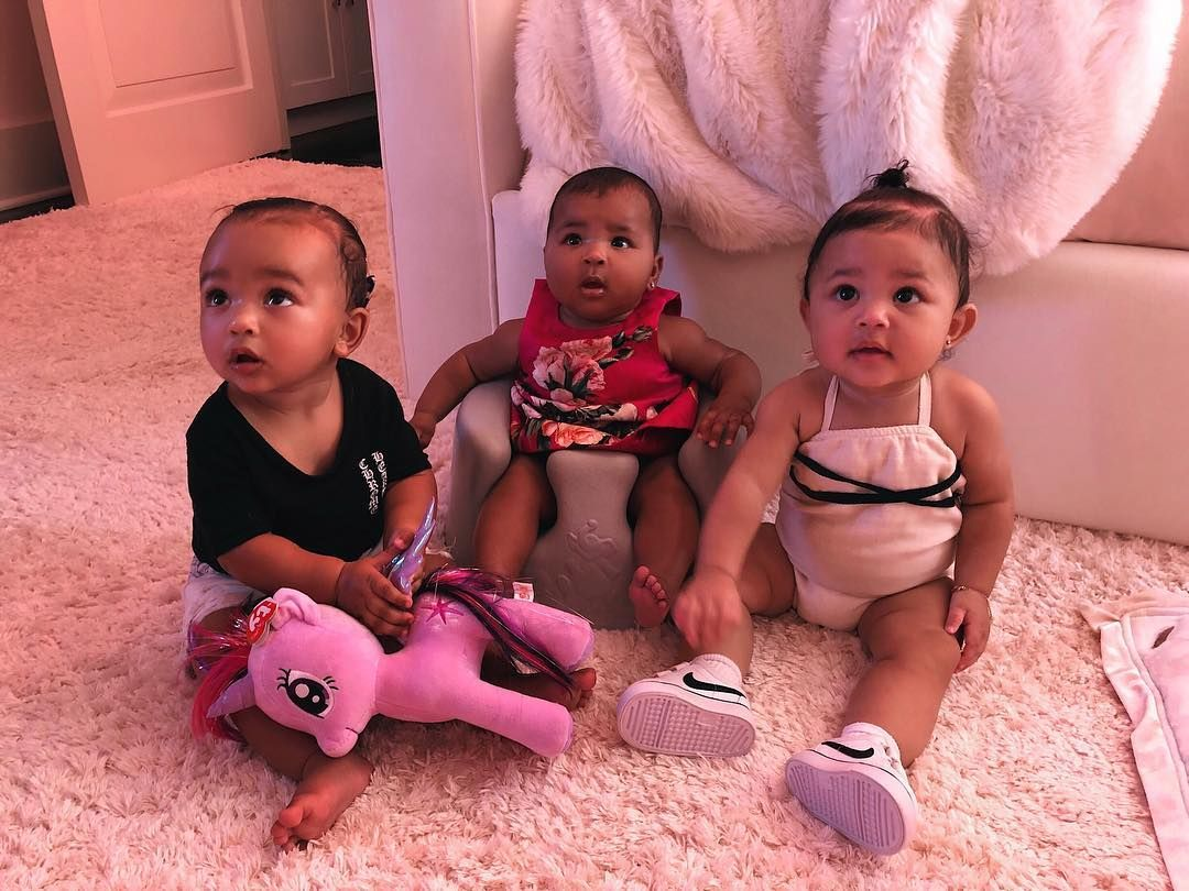 Kim Kardashian Posted A Pic Of Stormi Webster And Chicago West
