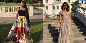 Serena Williams and Priyanka Chopra at the Royal Wedding Reception