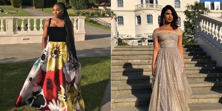 Serena Williams And Priyanka Chopra At The Royal Wedding Reception